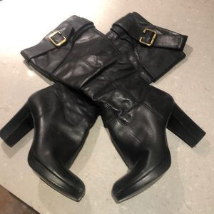 Bronx below-the-knee leather boots size 38